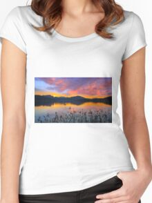 Dusk at Lake Wörthersee Women's Fitted Scoop T-Shirt
