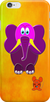 The Elephant & the Mouse iPhone case by Dennis Melling
