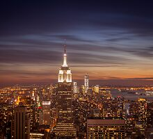 New York City Skyline - Evening View by Vivienne Gucwa