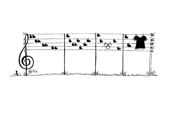 Musician's Washing Line 2 by Kerina Strevens