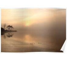 Loch Ard Morning Mist Poster