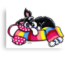 Warm Up, Little Schnauzer Canvas Print