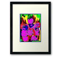 Abstract Flower Design Framed Print