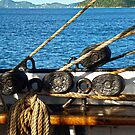 """Block and Tackle, """"SY Picton Castle"""" by globeboater"""