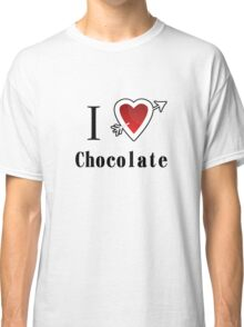 I love chocolate valentines day tee  Classic T-Shirt