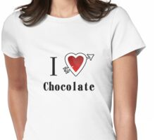 I love chocolate valentines day tee  Womens Fitted T-Shirt