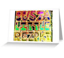 Justa Little Rzpkt! Greeting Card