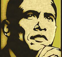 BARACK OBAMA-44TH U.S PRESIDENT (ALT) by OTIS PORRITT