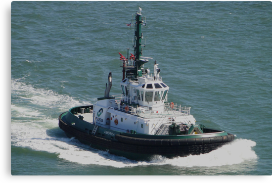Tractor Tug 'America' by Barrie Woodward
