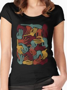 Hands Superposition WLJ71 Women's Fitted Scoop T-Shirt