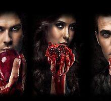 The vampire diaries-Elena,Damon,Stefan by KikkaT