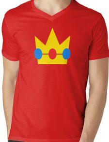Super Mario Peach Icon Mens V-Neck T-Shirt