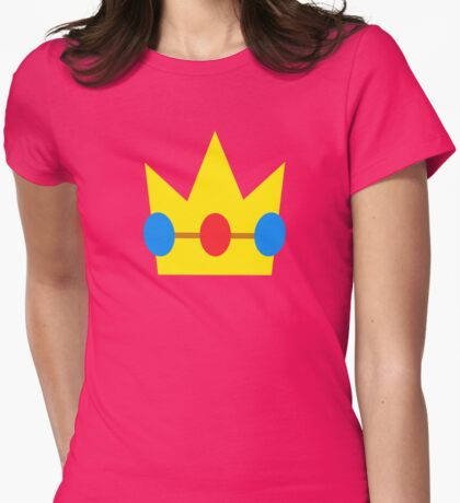 Super Mario Peach Icon Womens Fitted T-Shirt