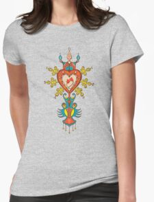 Heart Rules Womens Fitted T-Shirt