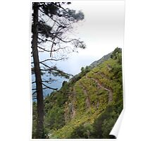 Foggy Morning in Cinque Terre Poster