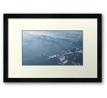 Birds View on the Alps VRS2 Framed Print