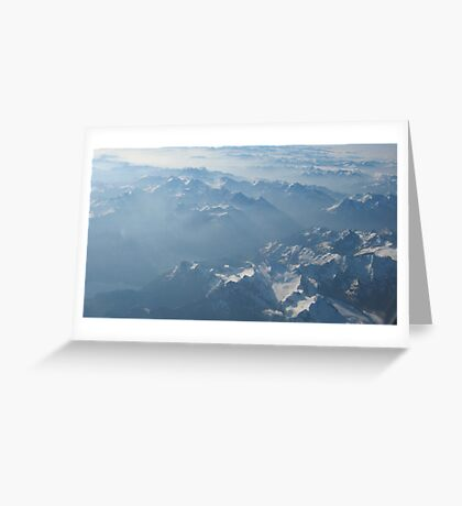 Birds View on the Alps VRS2 Greeting Card