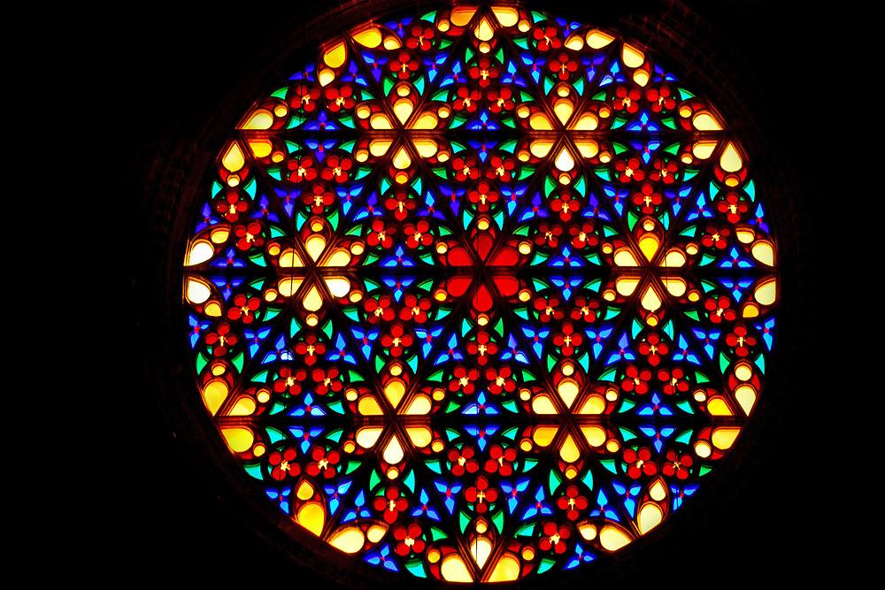 Colorful window by Arie Koene