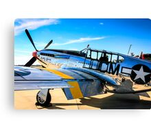 P51C Mustang WWII Fighter Plane Canvas Print