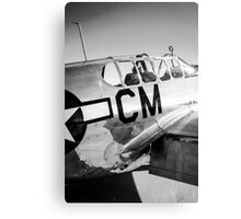 B/W P51C Mustang WWII Fighter Plane Canvas Print