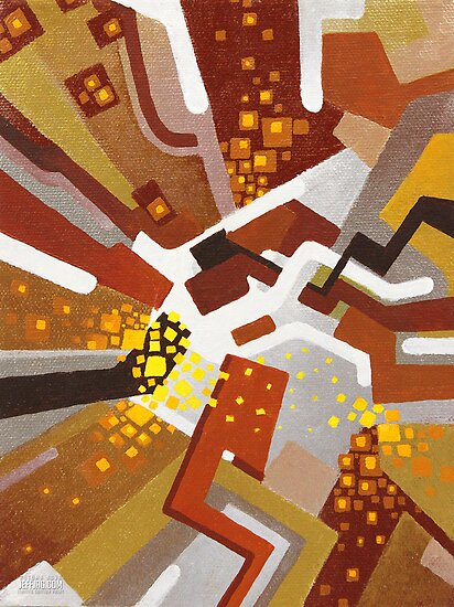 Autumn Nova - Abstract Acrylic Canvas Painting by jeffjag