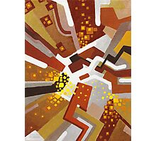 Autumn Nova - Abstract Acrylic Canvas Painting Photographic Print