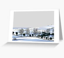 Snow on hills Greeting Card
