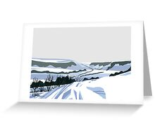 Snow on hills 2 Greeting Card
