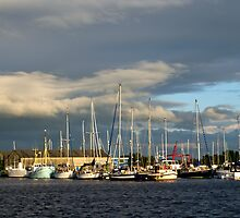 The Golden Hour At Glasson Marina by john collier