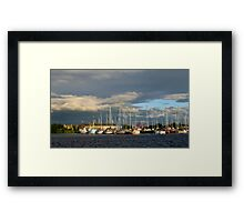 The Golden Hour At Glasson Marina Framed Print