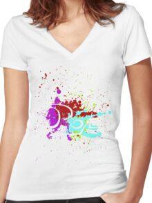 Oroyal - Spring Break Fest Tee Women's Fitted V-Neck T-Shirt