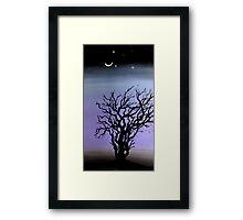 a tree in dubai by artist singh  Framed Print