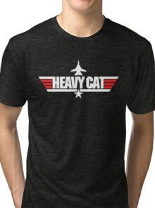 Custom Top Gun Style - Heavy Cat Tri-blend T-Shirt
