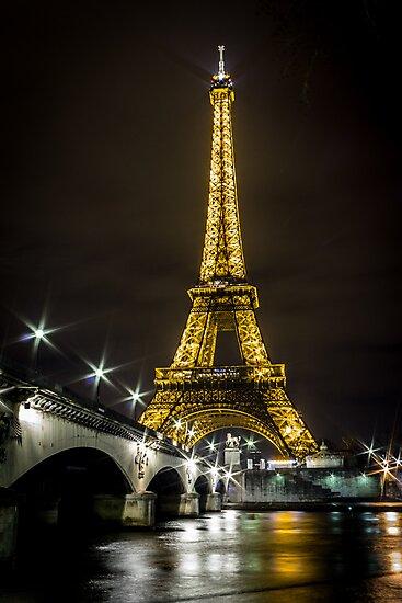 Eiffel Tower by Night by Philip Kearney