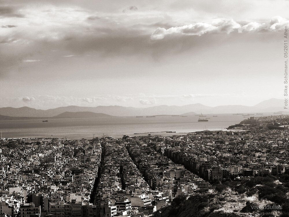 View to Athens Harbor (sepia) VRS2 by vivendulies