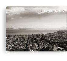 View to Athens Harbor (sepia) VRS2 Canvas Print