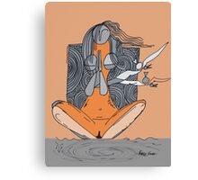 Naked yoga by artist singh Canvas Print