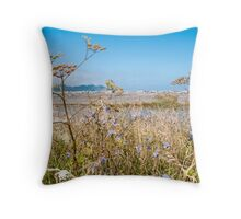 grasses by the sea Throw Pillow