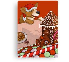 Gingerbread Christmas Canvas Print