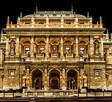 Hungarian State Opera House at Night, Budapest, Hungary by acaldwell