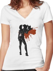 Hollywood Spy Women's Fitted V-Neck T-Shirt