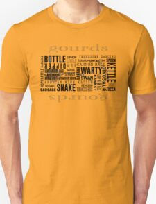 Gourd Typography 2 (Light Background) T-Shirt