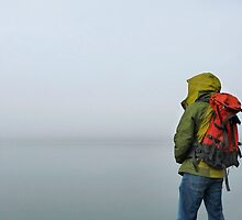 Backpacker and the Abyss by Dan Jesperson