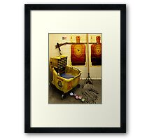 Clean and Safe. Framed Print