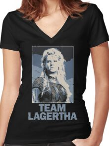 Team Lagertha - Vikings, History Channel Women's Fitted V-Neck T-Shirt