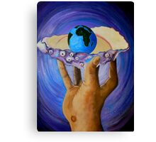 GOD'S Little Blue Pearl Of Great Price Canvas Print