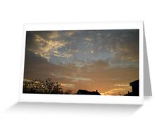 01/28/2013 Fantastic Sunset 3 Greeting Card