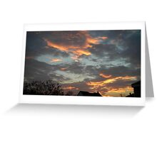 01/28/2013 Fantastic Sunset 7 Greeting Card