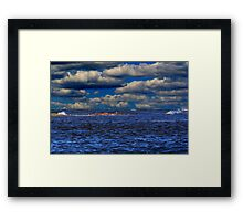 IT'S A BLUE DAY Framed Print