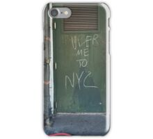 Uber Me to NYC iPhone Case/Skin